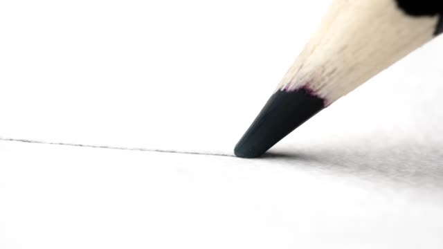 pencil writing - pencil isolated stock videos & royalty-free footage