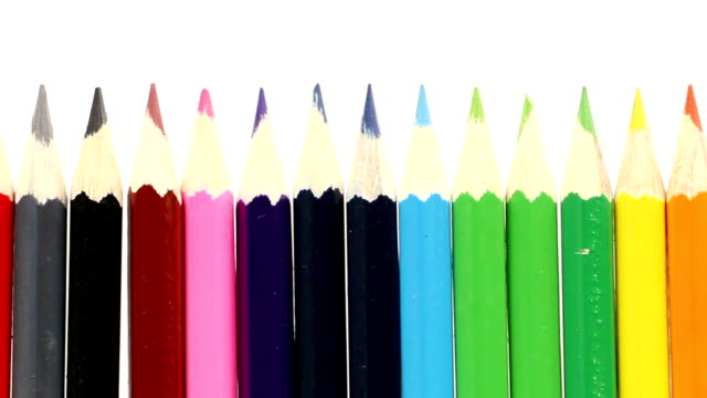pencils in a row - pencils in a row stock videos & royalty-free footage