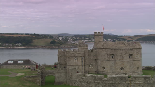 pendennis and st mawes castles - castle stock videos & royalty-free footage