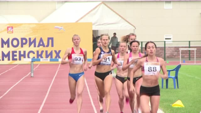 vídeos de stock, filmes e b-roll de pending a decision by athletics world governing body iaaf on whether to lift russias suspension ahead of the rio olympics russian athletes have been... - rio russian