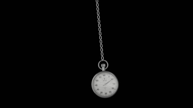 pendulum of pocket watch. looping. transparent background, alpha channel 4k stock video. - balance stock videos & royalty-free footage