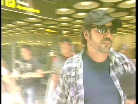 Penelope Cruz and Javier Bardem in the Barajas airport Madrid Spain