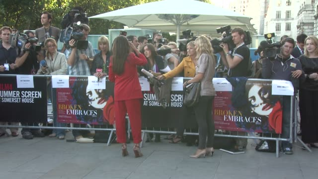 Penelope Cruz at the Broken Embraces Film Four Summer Screen Premiere at London England