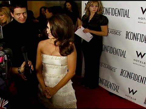 vidéos et rushes de penelope cruz at the la confidential 2007 pregolden globes party honoring penelope cruz at the whiskey blue at w hotel in los angeles california on... - penélope cruz