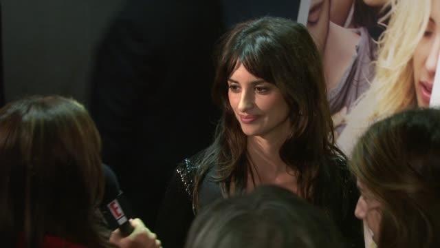 Penelope Cruz at the 'Vicky Cristina Barcelona' Premiere at New York NY