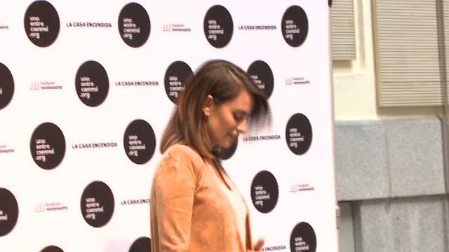 Penelope Cruz attends the Unoentrecienmil Foundation charity event against childhood leukemia at La Casa Encendida