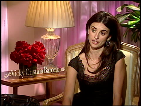 on the intensity of her role on filming in barcelona on watching woody allen films and on audience appeal of the film at the 'vicky cristina... - woody allen stock videos & royalty-free footage