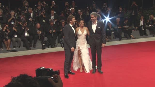 Penelope Cruz Javier Bardem Fernando Leon de Aranoa at 'Loving Pablo' Red Carpet 74th Venice International Film Festival at Palazzo del Casino on...