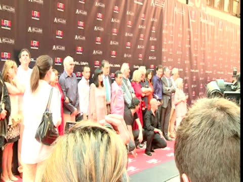 penelope cruz javier bardem pedro almodovar carlos saura and alejandro amenabar in the spanish walk of fame in madrid europa press news capsules on... - javier bardem stock videos and b-roll footage