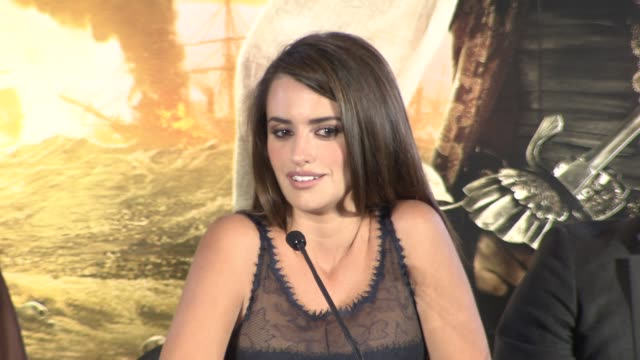 Penelope Cruz on being a fan of the films more action roles at the Pirates of the Caribbean On Stranger Tides Press Conference at London England