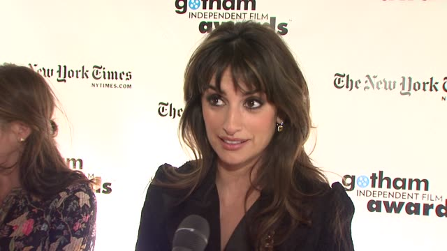 Penelope Cruz on how she feels to be receiving this honor being a part of two of the nominated films at the 18th Annual Gotham Independent Film...