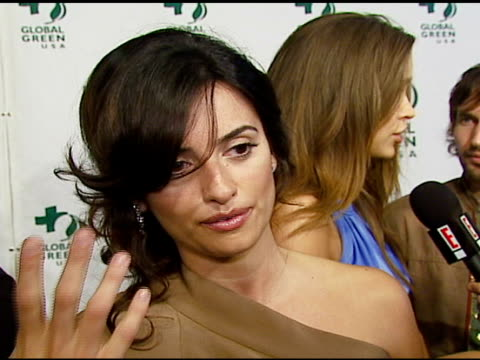 penelope cruz on the environment, why she's passionate about it, being excited for the oscars at the 3rd annual pre-oscar party hosted by global... - oscar party stock videos & royalty-free footage