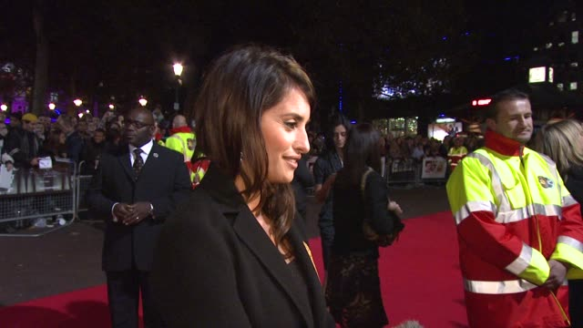 penelope cruz on the film festival working and with woody alllen at the london film festival vicky cristina barcelona premiere at london - woody allen stock videos & royalty-free footage
