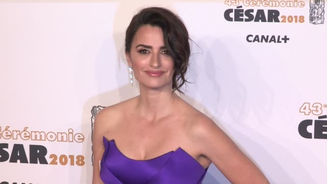 Penelope Cruz on the red carpet for the Cesar Film Awards 2018 at Salle Pleyel in Paris Paris France on Friday March 2nd 2018