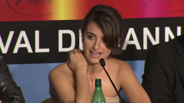 Penelope Cruz on the the differences working with Woody Allen and Pedro Almodovar at the Cannes Film Festival 2009 Broken Embraces Press Conference...
