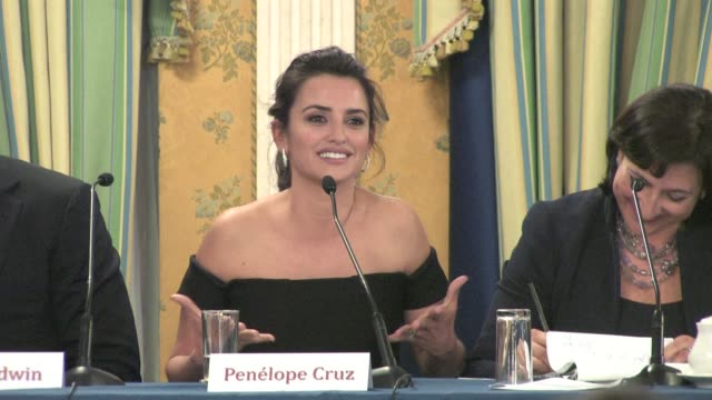 Penelope Cruz on working with Woody Allen at the To Rome With Love Press Conference at Hotel Parco Dei Principi in Rome Italy on April 13 2012...