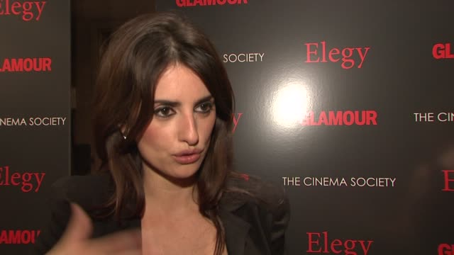Penelope Cruz Play at the Cinema Society Presents Screening of 'Elegy' at New York NY