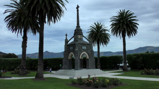 peninsula war memorial - akaroa, new zealand - akaroa stock videos & royalty-free footage