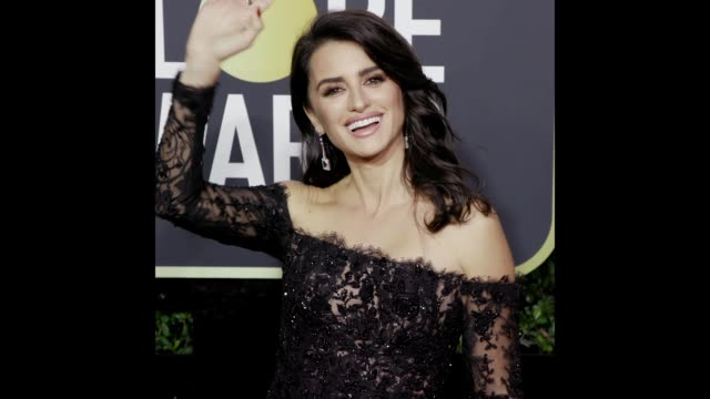 vídeos de stock, filmes e b-roll de penélope cruz at the 75th annual golden globe awards - penélope cruz