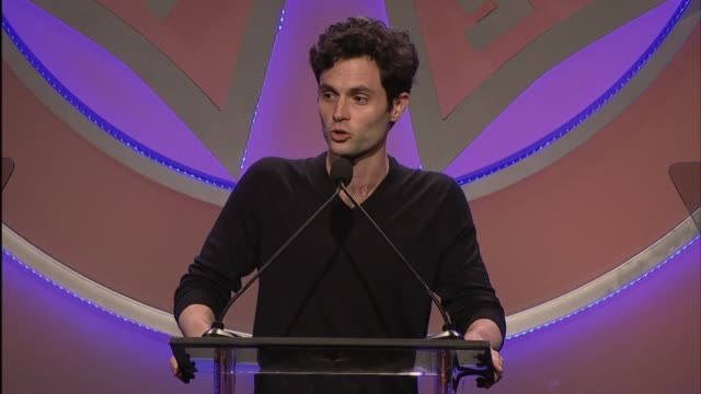 penn badgley at 56th annual icg publicists awards 2019 at the beverly hilton hotel on february 22, 2019 in beverly hills, california. - the beverly hilton hotel stock videos & royalty-free footage