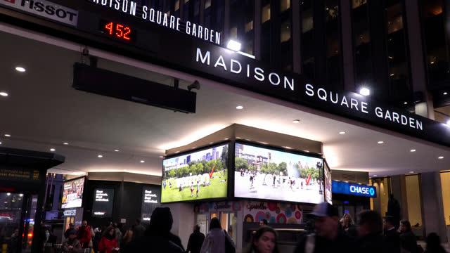 penn station. madison square garden - new york city penn station stock videos & royalty-free footage