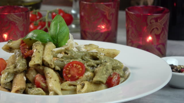 penne pasta plate - grated stock videos & royalty-free footage