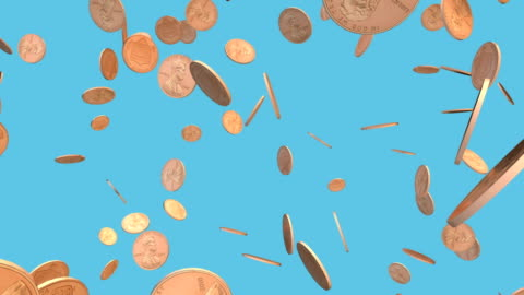 pennies falling - luck stock videos & royalty-free footage