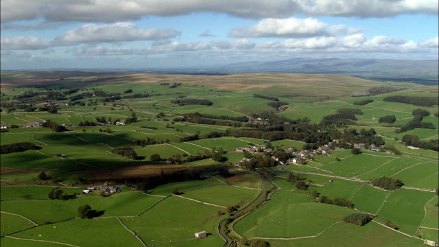pennine landscape near swaledale  - aerial view - england, north yorkshire, richmondshire district, united kingdom - pennines stock videos & royalty-free footage