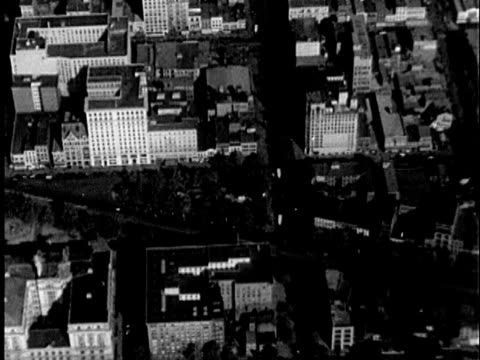 1935 b/w aerial pennsylvania avenue and us treasury building / washington, united states / audio - 1935 stock videos & royalty-free footage