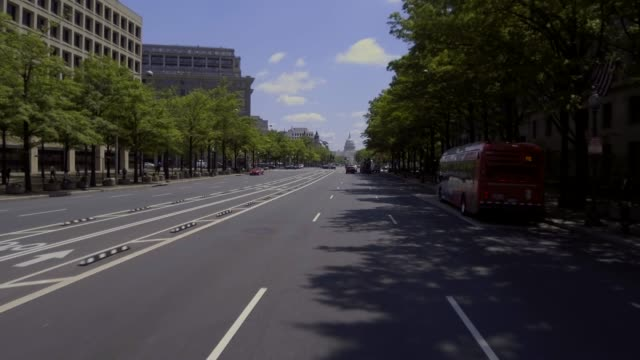 Pennsylvania Avenue fahren nach United States Capitol West in Washington, DC