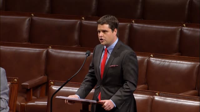 pennsylvania congressman matt gaetz says america risks a coup d'état if an unaccountable person with no oversight is allowed to undermine the duly... - united states national team stock videos & royalty-free footage