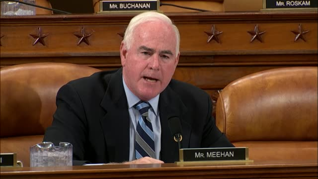 Pennsylvania Congressman Pat Meehan argues on the third day of a House Ways and Means Committee markup on tax reform that each member looks at...