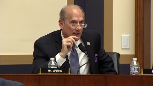 Pennsylvania Congressman Tom Marino asks Deputy Attorney General Rod Rosenstein at a hearing of the House Judiciary Committee about rules that...