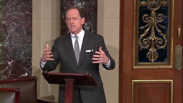 Pennsylvania Senator Pat Toomey says in debate on the First Step Act that the spending on criminal victims was disgraceful making it more difficult...