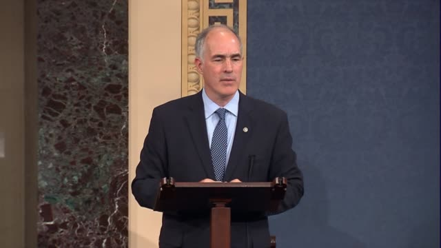 pennsylvania senator robert casey asks if it is a radical idea to have a thorough examination through hearings to fix parts of the health care system... - medicaid stock videos and b-roll footage