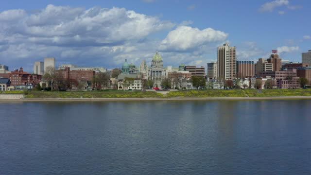 ペンシルベニア州議会議事堂空中 - ハリスバーグ - ミスコン受賞者点の映像素材/bロール
