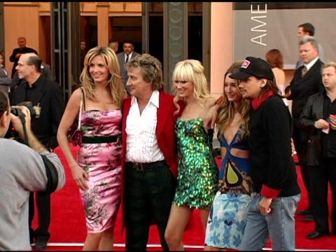 Penny Lancaster Rod Stewart and Kimberly Stewart at the 2004 American Music Awards Red Carpet at the Shrine Auditorium in Los Angeles California on...
