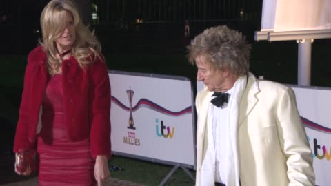 penny lancaster, rod stewart at the sun military awards at national maritime museum on december 10, 2014 in london, england. - rod stewart stock-videos und b-roll-filmmaterial