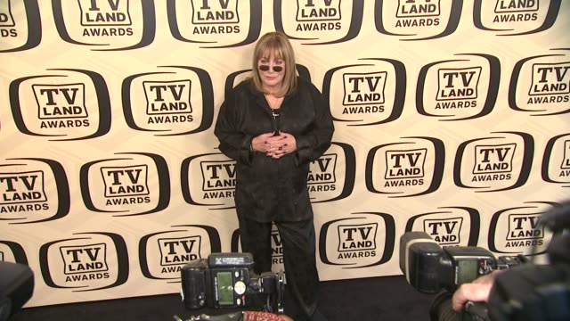 penny marshall at tv land awards 10th anniversary arrivals at lexington avenue armory on april 14 2012 in new york ny - tv land awards stock videos and b-roll footage