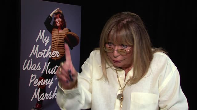penny marshall on having one abortion marched on washington for pro choice on intimate parts of the book if she's going to write she'll tell the... - ペニー マーシャル点の映像素材/bロール
