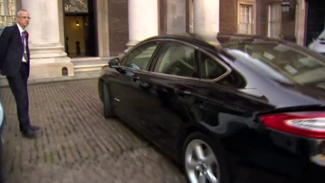 Penny Mordaunt arrival at Department for International Development ENGLAND London Whitehall EXT Penny Mordaunt MP arriving in car / Mordaunt along...