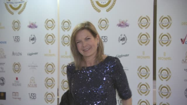 penny smith at the 4th annual national film awards at porchester hall on march 28, 2018 in london, england. - ポーチェスター点の映像素材/bロール