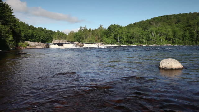 penobscot river waterfall rapids - maine stock videos & royalty-free footage