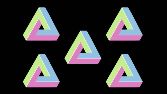 penrose triangle - design element stock videos & royalty-free footage