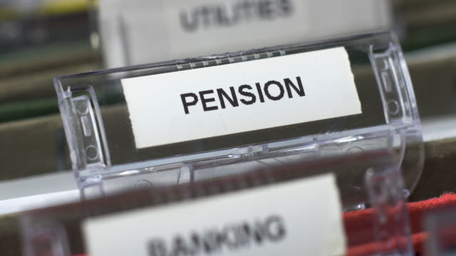 pension tab on file. - filing cabinet stock videos & royalty-free footage