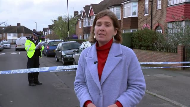 Pensioner arrested after fatally wounding intruder at his home in Hither Green London Hither Green Reporter to camera Woman talking to police officer...