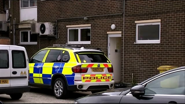 pensioner shoots himself in surrey doctor's surgery england surrey frimley ext reporter to camera police car parked at back of doctor's surgery where... - medical resident stock videos and b-roll footage