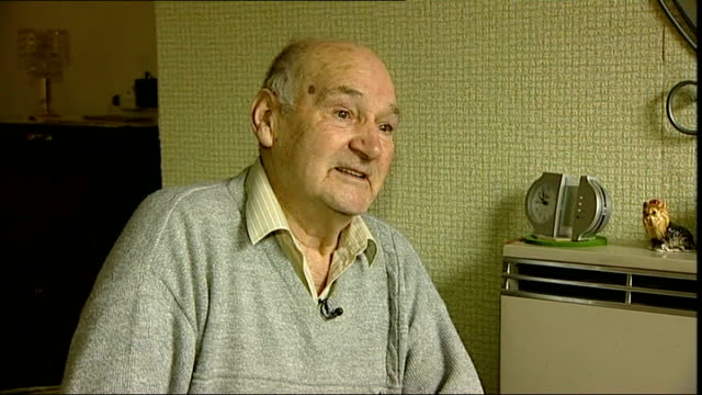 pensioner sid bannister tackles armed robber int sid bannister interview sot - bannister stock videos & royalty-free footage