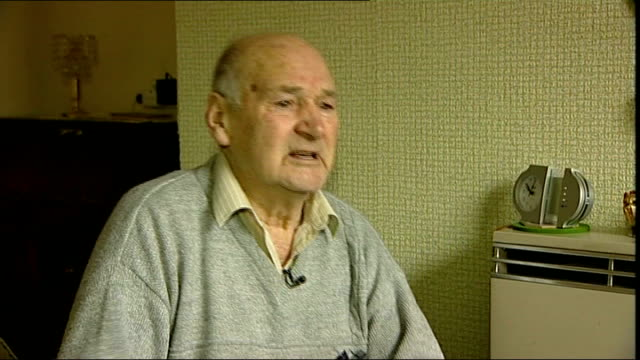 pensioner sid bannister tackles armed robber sid bannister interview sot - bannister stock videos & royalty-free footage