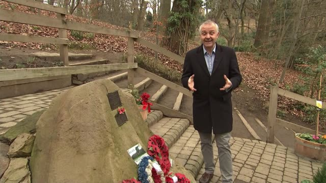 Pensioner who witnessed US WW2 plane crash campaigns for commemorative flypast UK Sheffield Endcliffe Park WW2 Memorial Sheffield Endcliffe Park EXT...